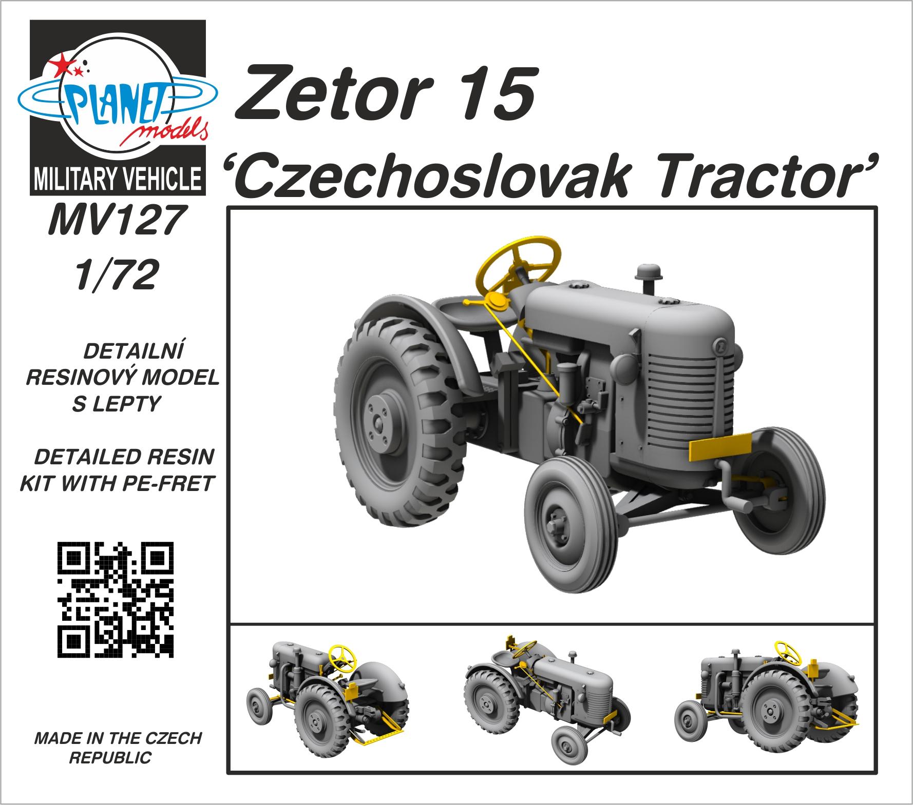 Planet Models 1/72 Zetor 15 Czechoslovak Tractor