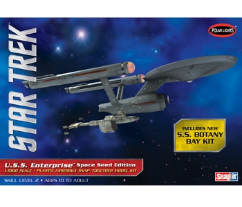 Polar Lights 1/1000 Star Trek TOS USS Enterprise Space Seed Edition Snap