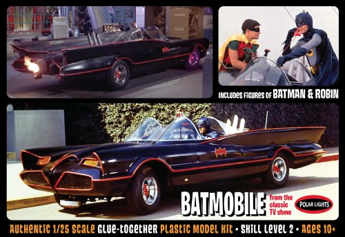 Polar Lights 1966 Batmobile w/ Batman & Robin Figures