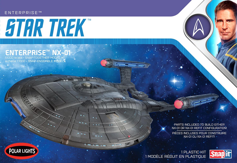 Polar Lights 1/1000 Star Trek NX-01 Enterprise (Snap) 2T
