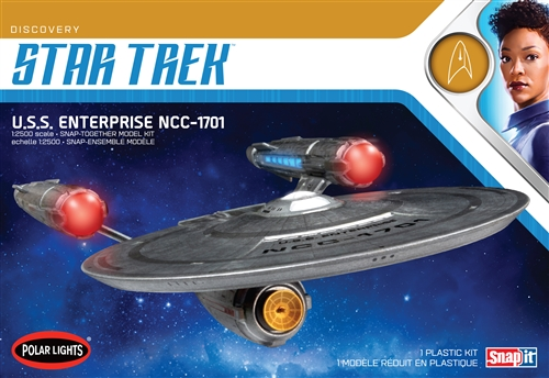 Polar Lights 1/2500 Star Trek Discovery USS Enterprise Snap 2T
