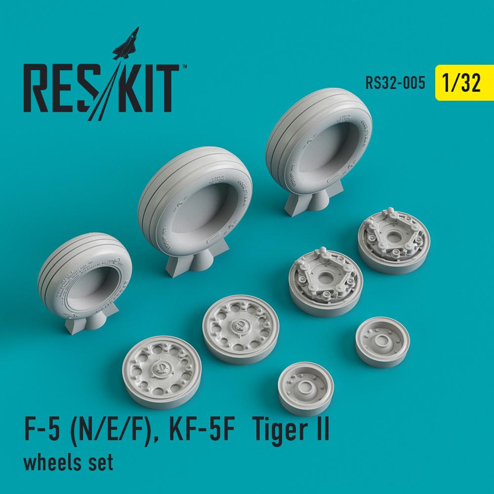 Res/Kit F-5 (N/E/F), KF-5F Tiger II wheels set