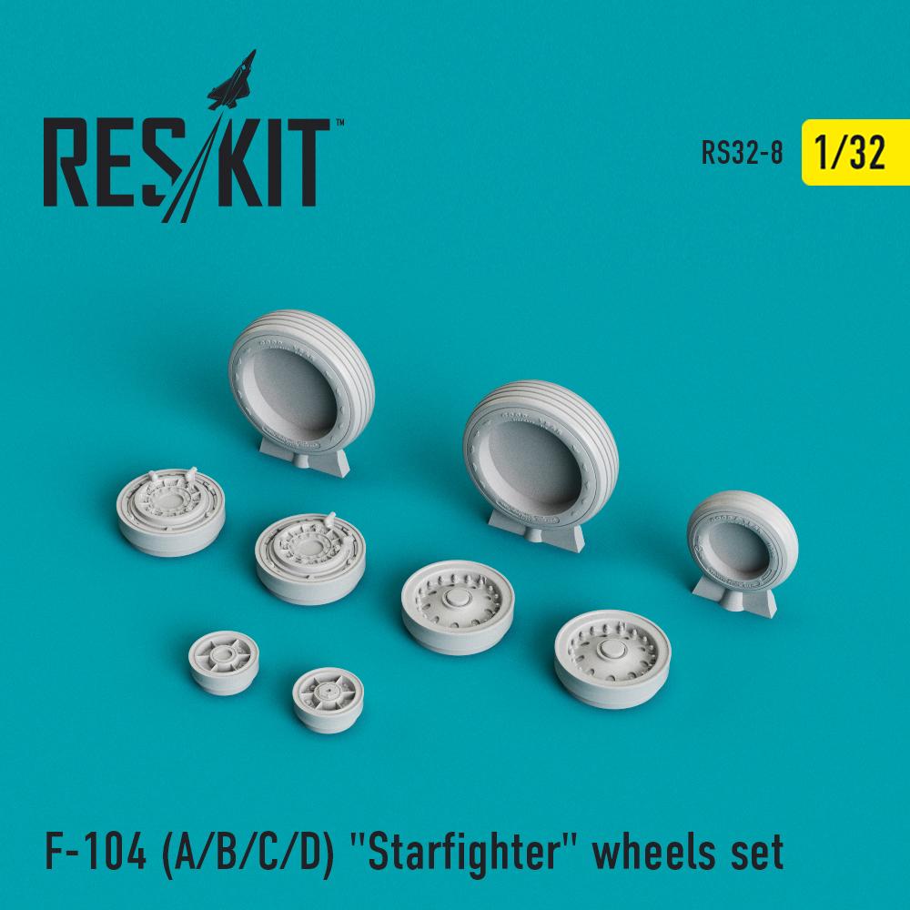 """Res/Kit F-104 (A/B/C/D) """"Starfighter"""" wheels set"""