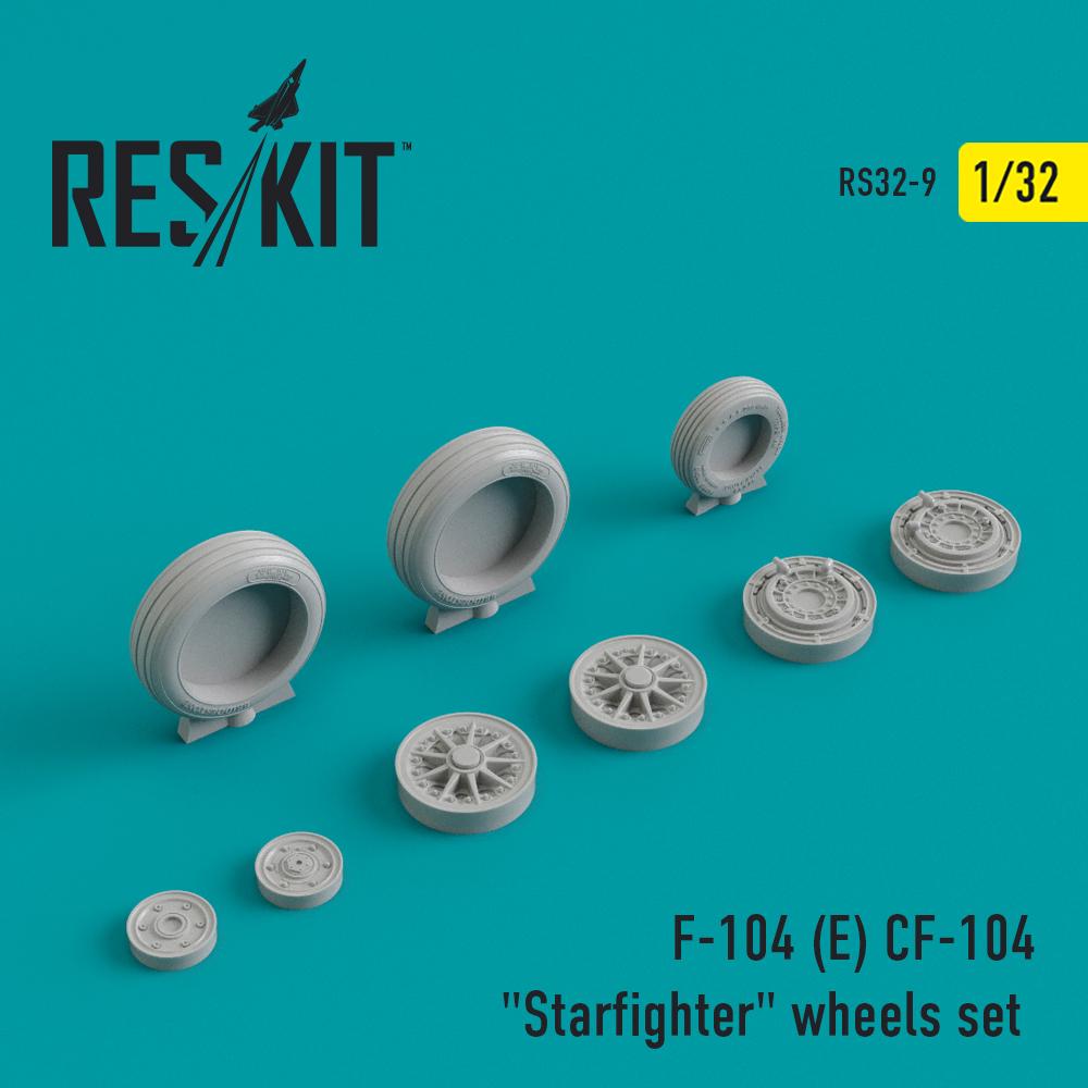 "Res/Kit F-104 (E) CF-104 ""Starfighter"" wheels set"