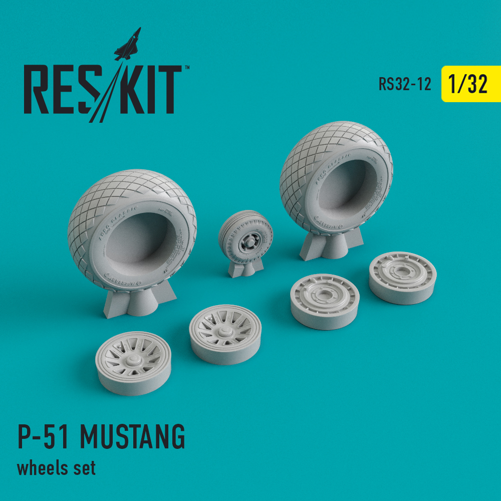 Res/Kit North American P-51 MUSTANG wheels set