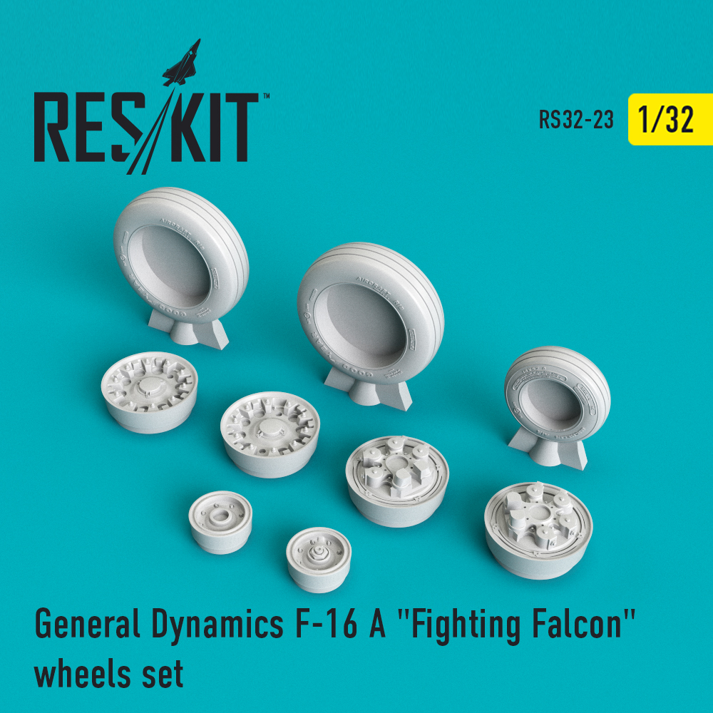 "Res/Kit F-16 (A) ""Fighting Falcon"" wheels set"