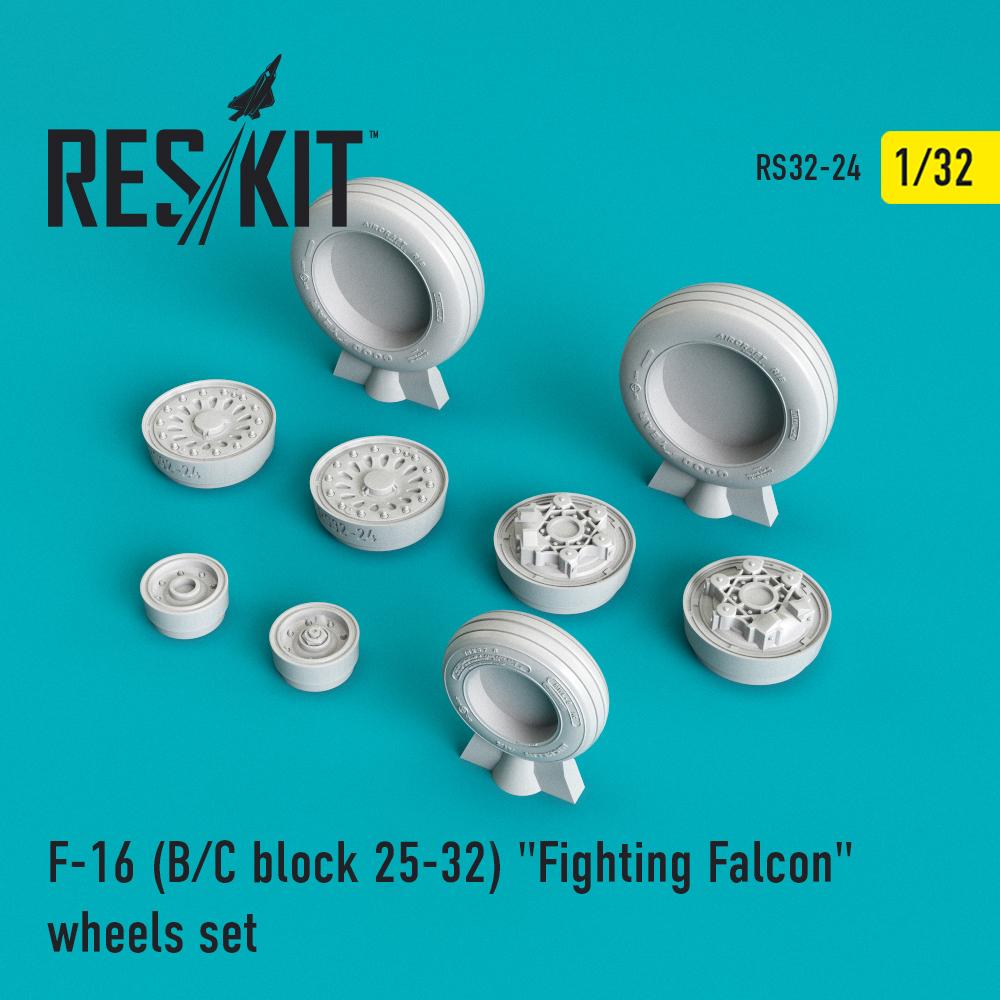 "Res/Kit F-16 (B/C) block 25-32 ""Fighting Falcon"" wheels set"