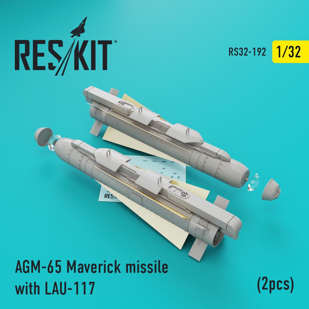 Res/Kit AGM-65 Maverick missile with LAU-117 (2pcs)(AV-8b, A-10, F-16, F-18)