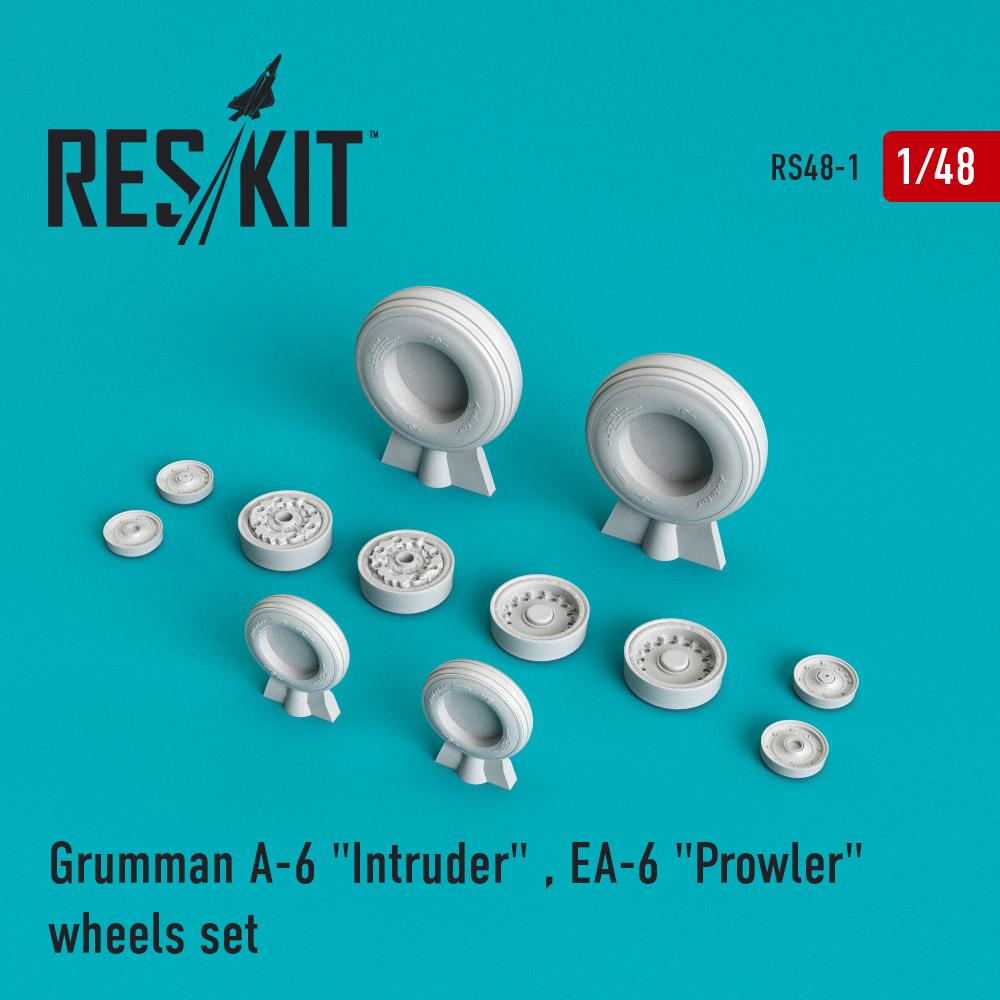 """Res/Kit A-6 """"Intruder"""" , EA-6 """"Prowler"""" wheels set"""