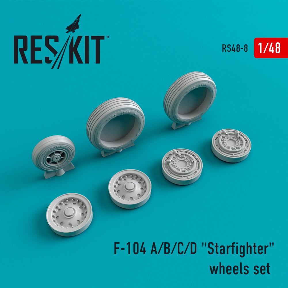 """Res/Kit F-104 A/B/C/D """"Starfighter"""" wheels set"""