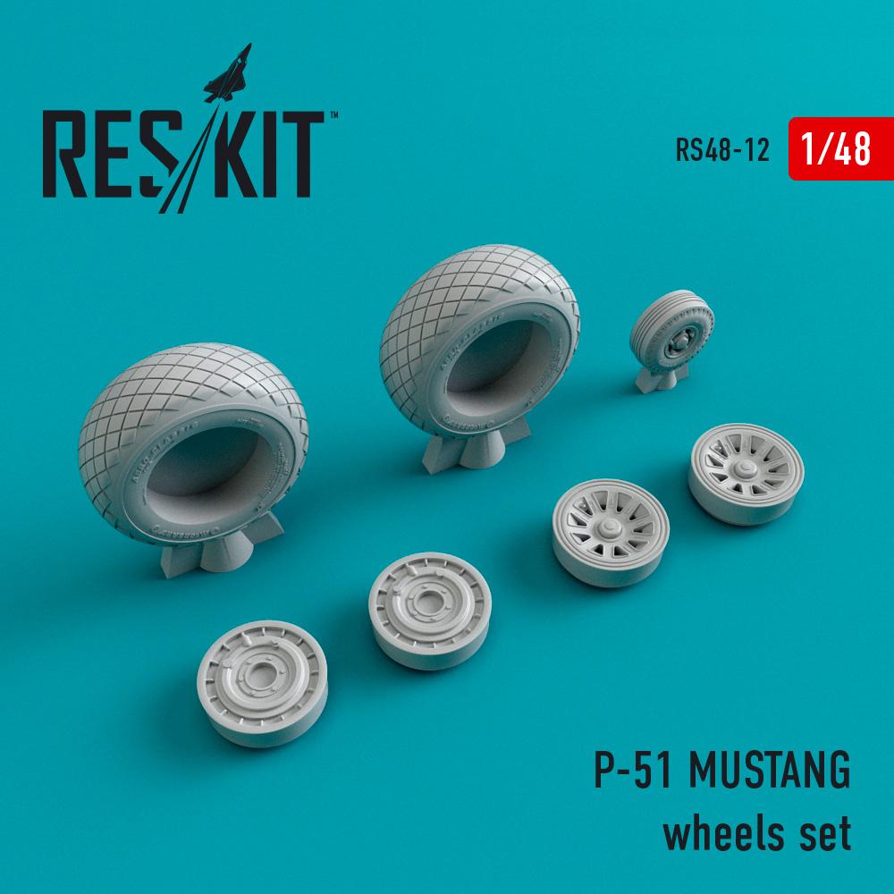 Res/Kit P-51 MUSTANG wheels set
