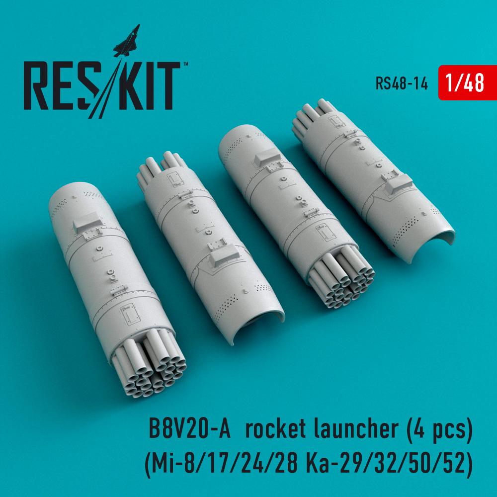 Res/Kit B8V20-_ rocket launcher (4 pcs) (Mi-8/17/24/28 Ka-29/32/50/52)