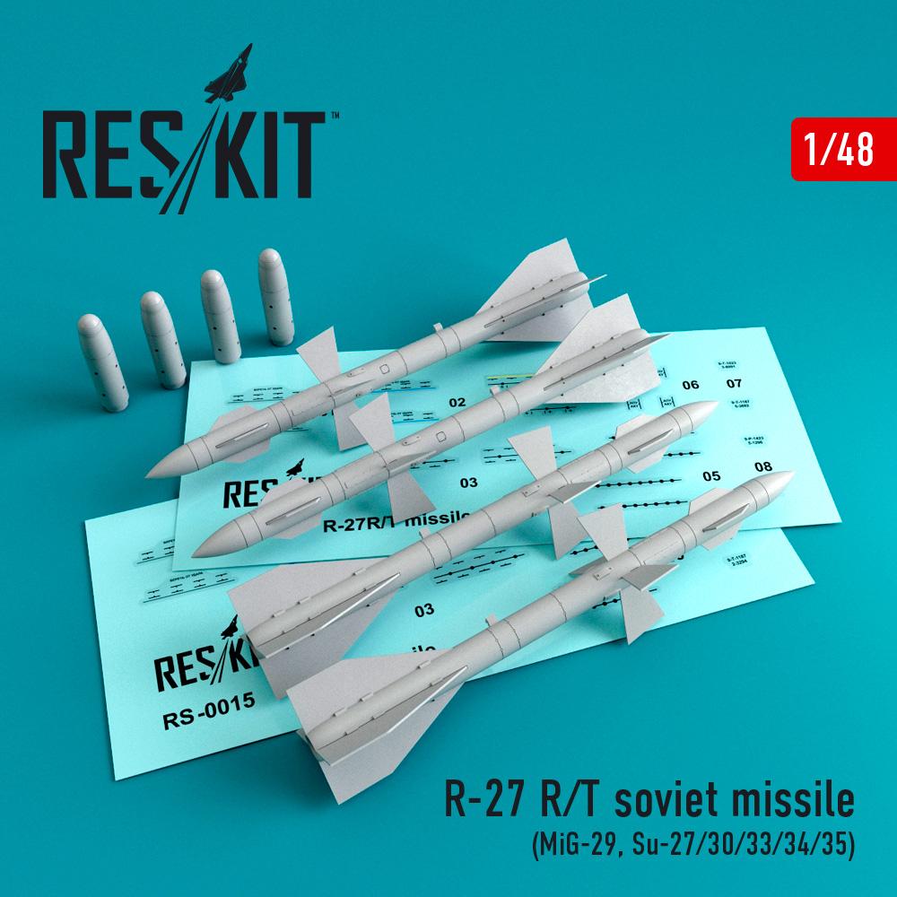 Res/Kit R-27 R/T soviet missile (4 pcs) (MiG-29, Su-27/30/33/34/35)