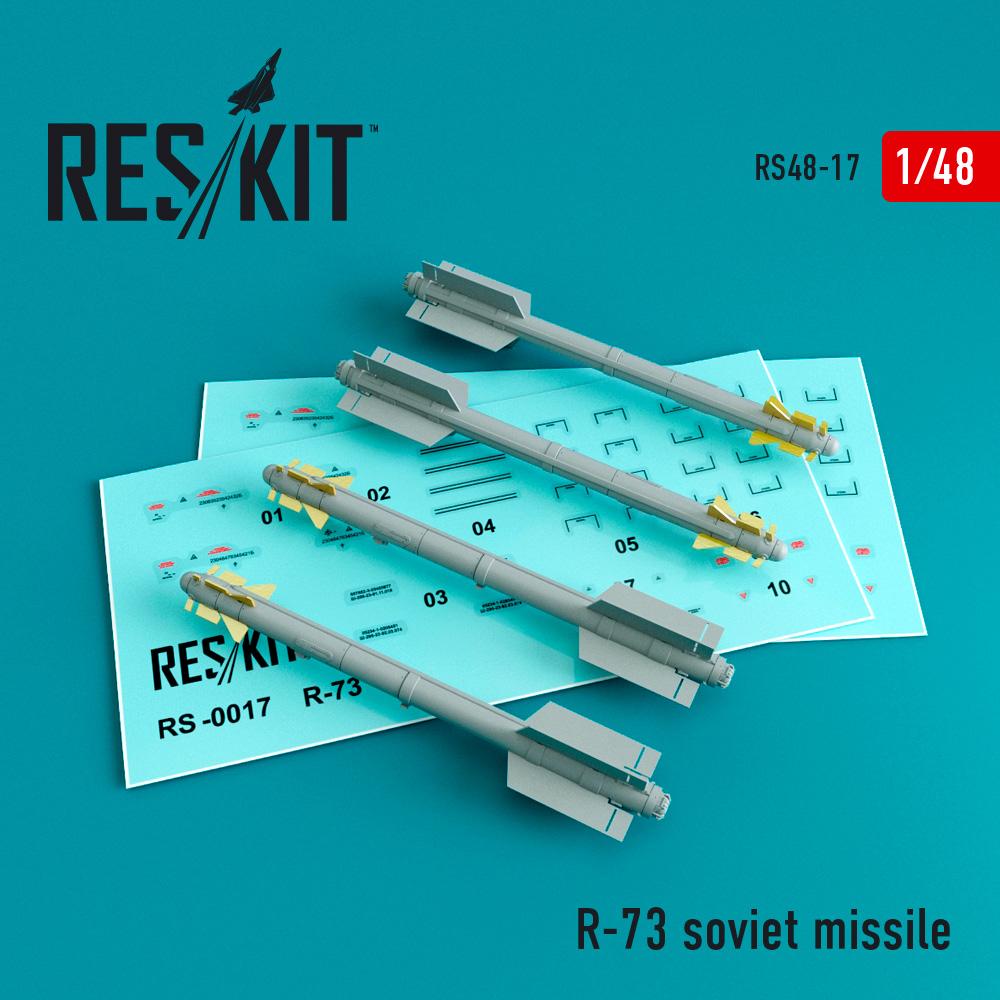 Res/Kit R-73 soviet missile (4 pcs) (Su-27/30/33/34/35/37 MiG-29)