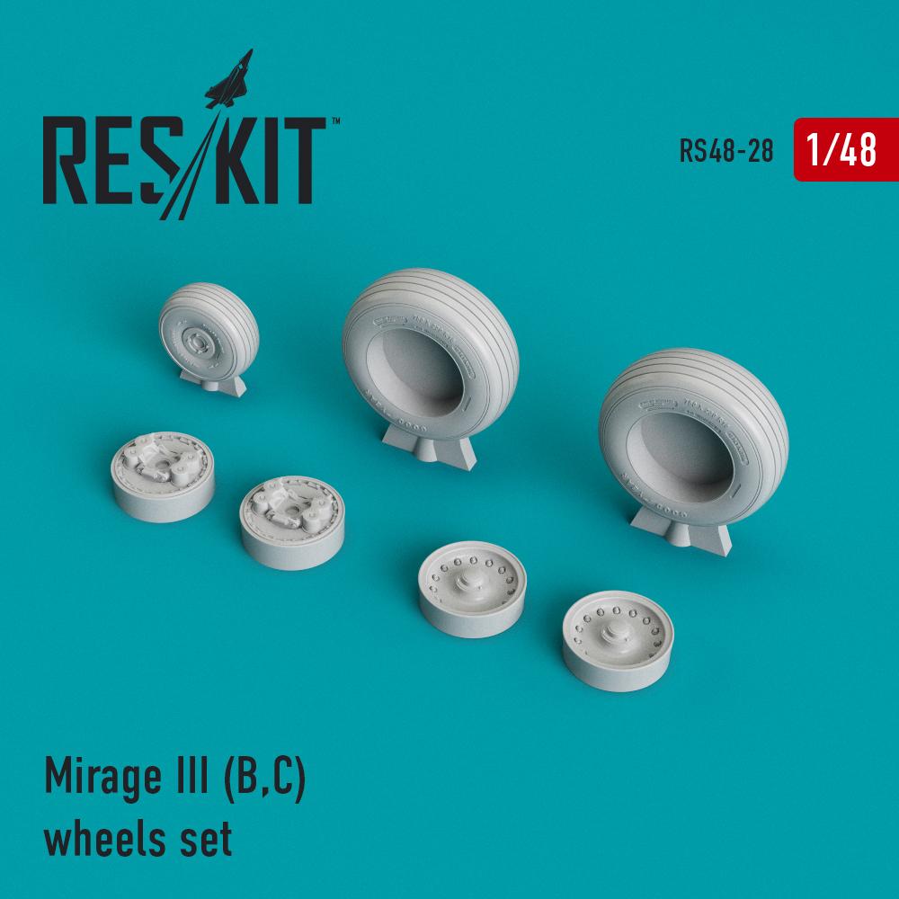 Res/Kit Mirage III (B,C) wheels set