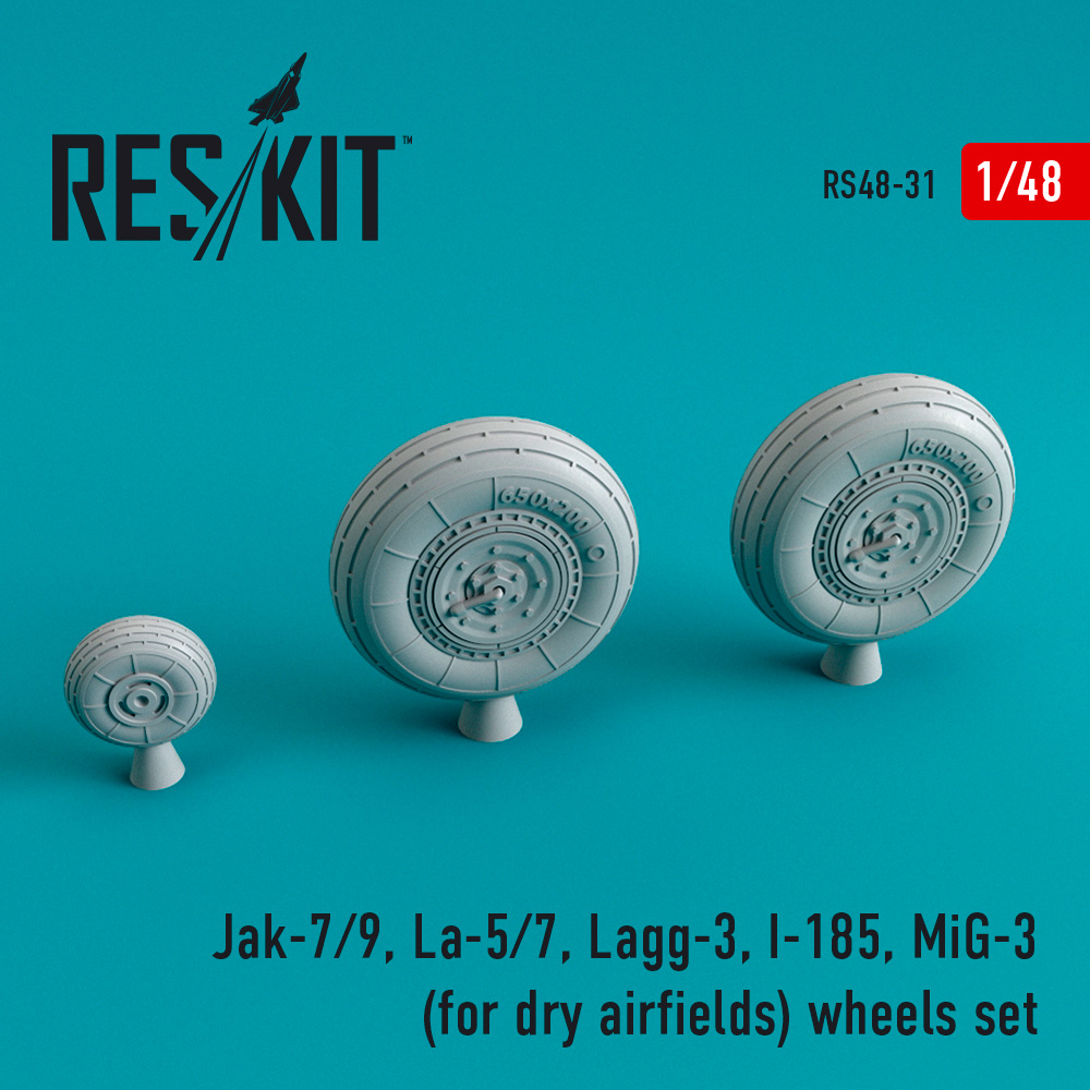 Res/Kit Jak-7/9, La-5/7, Lagg-3, I-185, MiG-3 (for dry airfields) wheels set