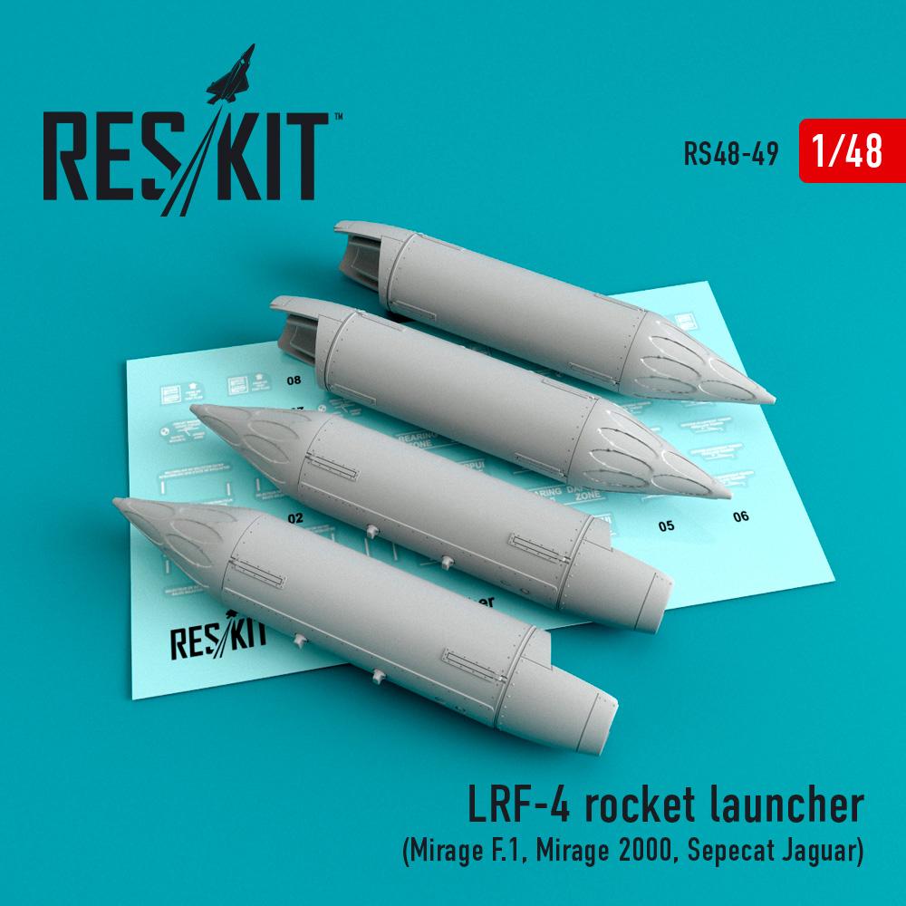Res/Kit LRF-4 rocket launcher (4 pcs) (Mirage F.1, Mirage 2000, Sepecat Jaguar)
