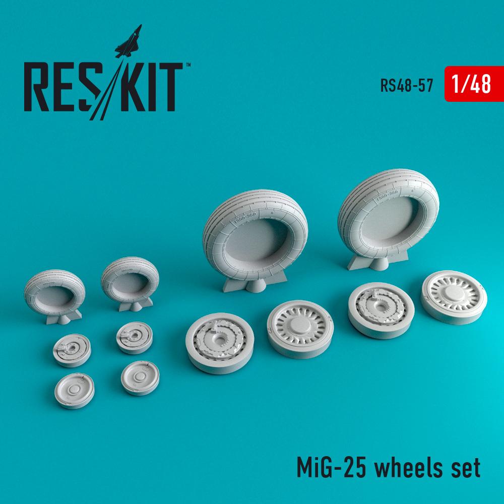 Res/Kit MiG-25 wheels set