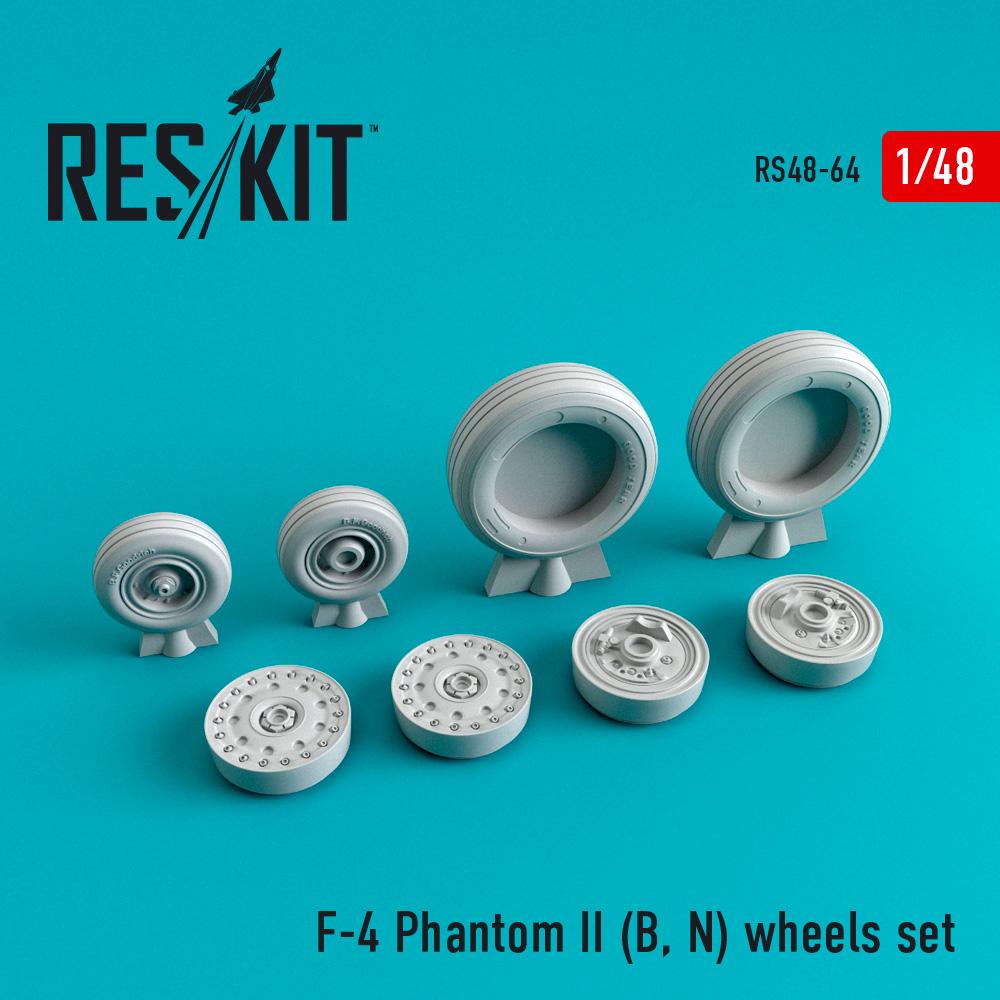 Res/Kit F-4 Phantom II (B, N) wheels set