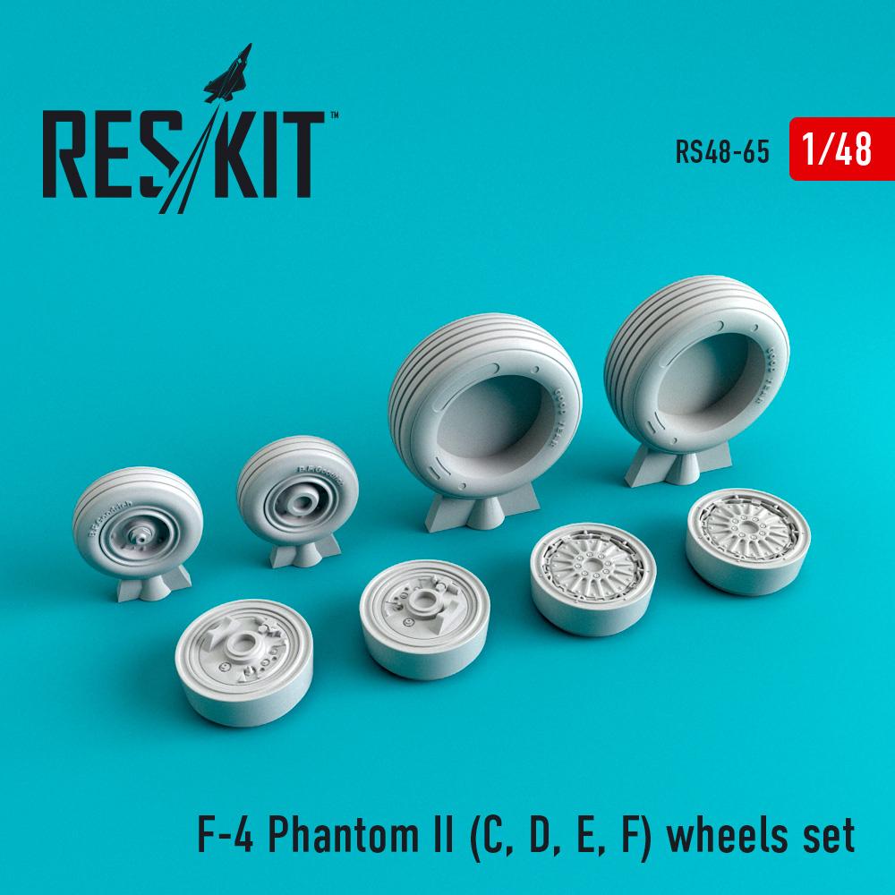 Res/Kit F-4 Phantom II (C, D, E, F) wheels set