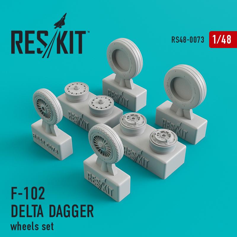 Res/Kit Convair F-102 Delta Dagger wheels set