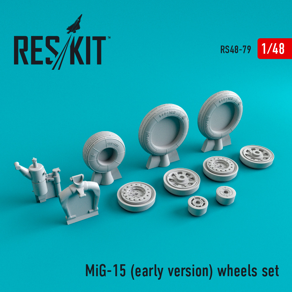 Res/Kit MiG-15 (early version) wheels set