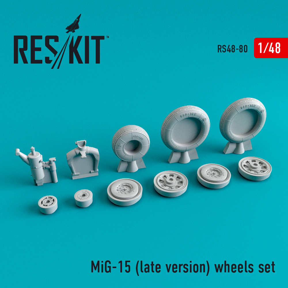 Res/Kit MiG-15 (late version) wheels set