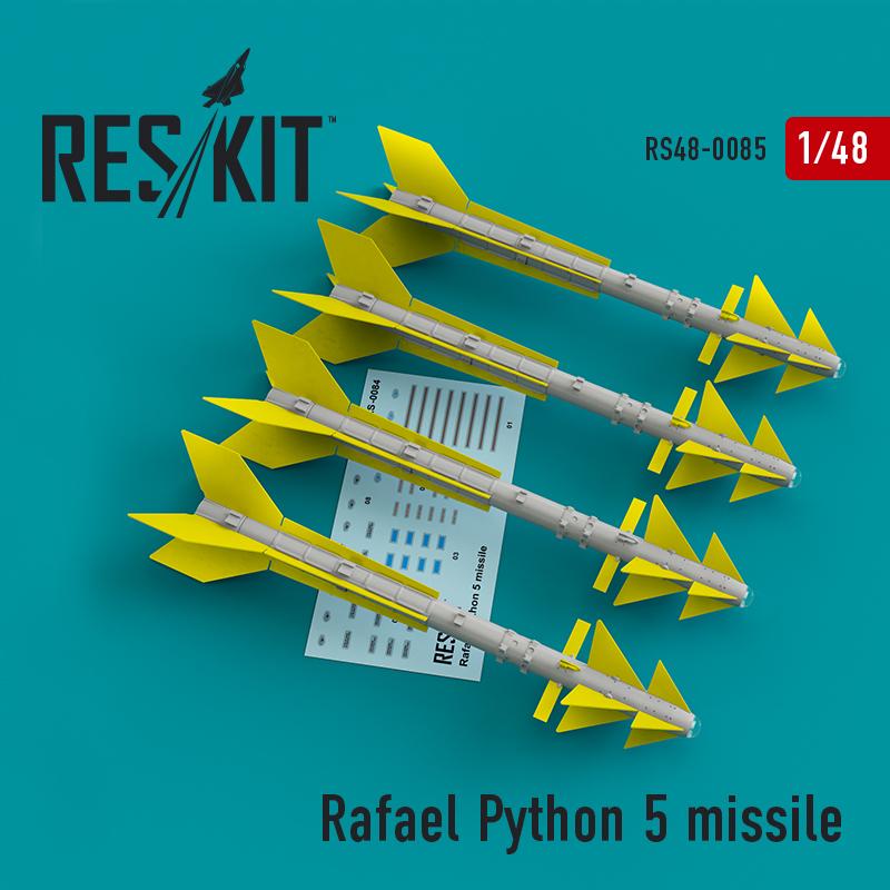 Res/Kit Rafael Python 5 missile (4 pcs) (F-16I, F-16D, F-15I Mirage F.1)