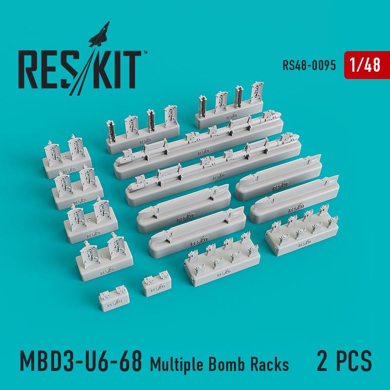 Res/Kit MBD3-U6-68 Multiple Bomb Racks (Su-17, Su-24, Su-30, Su-34, Su-35) (2 pcs)