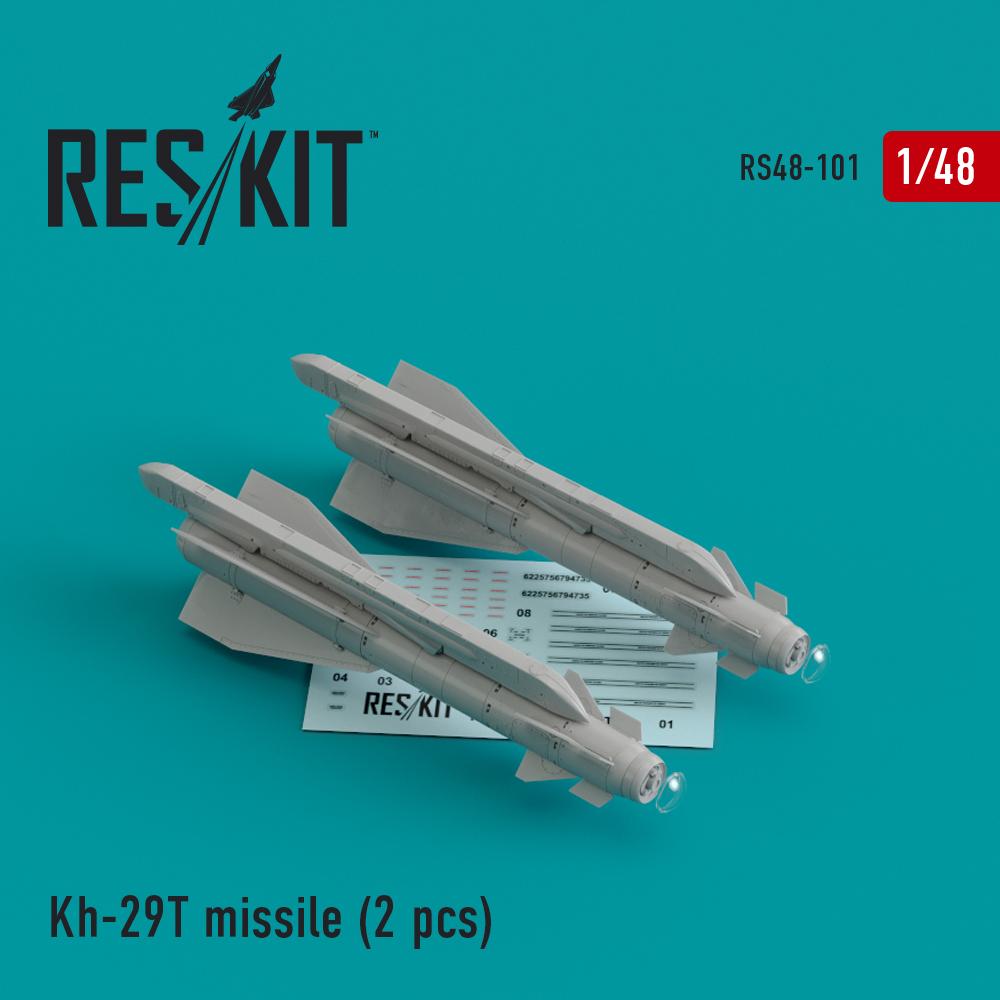 Res/Kit Kh-29T (AS-14B 'Kedge) missile (2 pcs) Su-17, Su-25,Su-24, Su-34, Su-30, Su-39, Mig-27, Yak-130, Mirage F.1