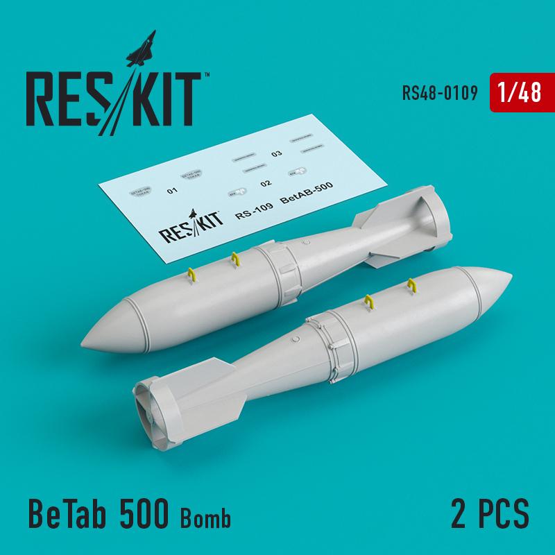 Res/Kit BeTab 500 Bomb (2 pcs) (Su-17/24/25/34, MiG-27)