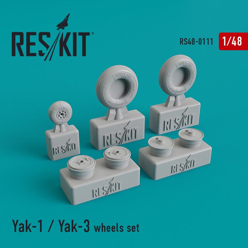 Res/Kit Yak-1 / Yak-3 wheels set