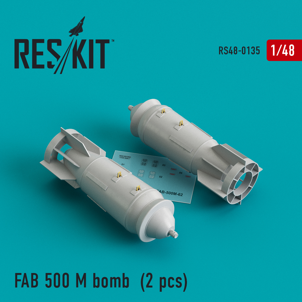 Res/Kit FAB 500 M bomb (2 pcs) (Su-17, Su-22, Su-24, Su-25, Su-34)