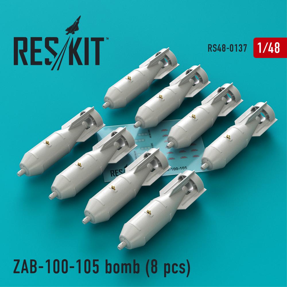 Res/Kit ZAB-100-105 bomb (8 pcs) (Su-7, Su-17, Su-22, Su-24, Su-25, Su-34, MiG-21, MiG-27)