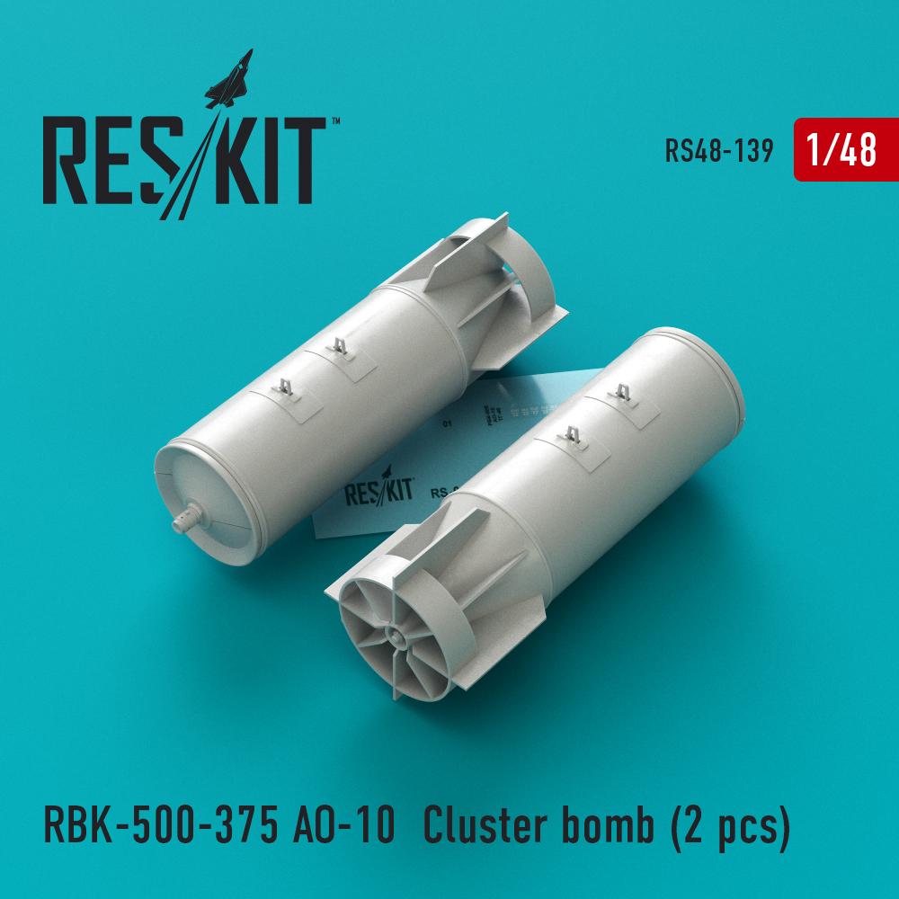 Res/Kit RBK-500-375 __-10 Cluster bomb (2 pcs) Su-17, Su-24, Su-25, Su-34, MiG-21, MiG-27