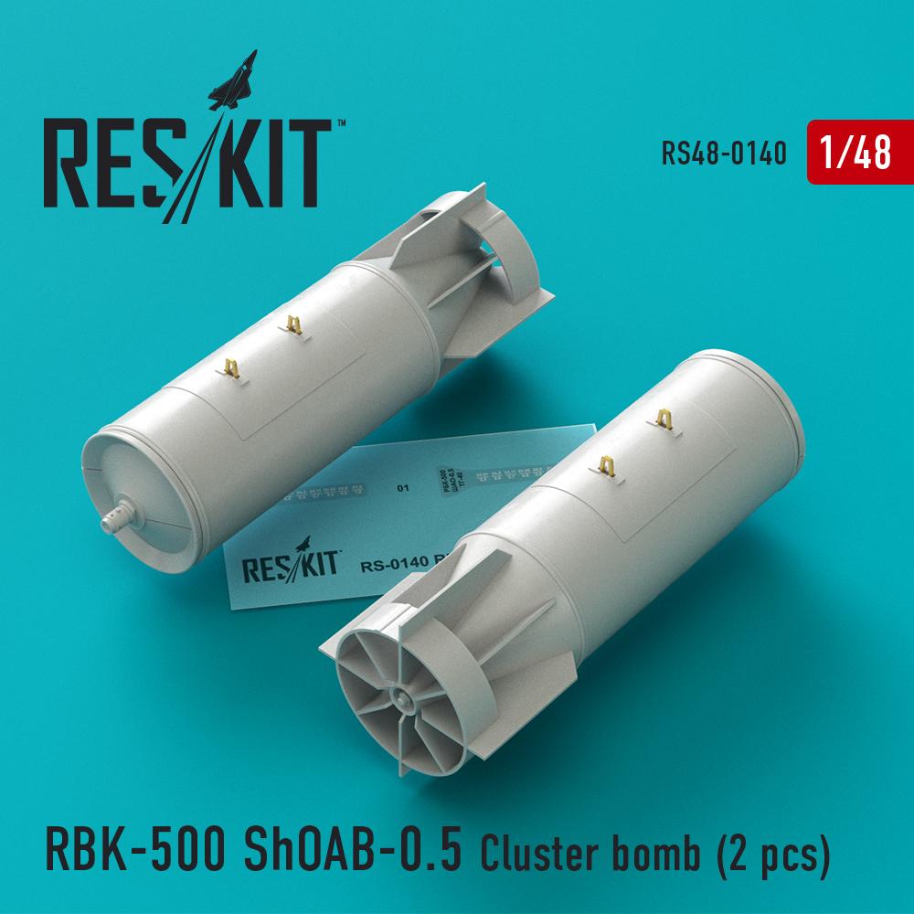 Res/Kit RBK-500 ShOAB-0.5 Cluster bomb (2 pcs) (Su-17, Su-22, Su-24, Su-25, Su-34)
