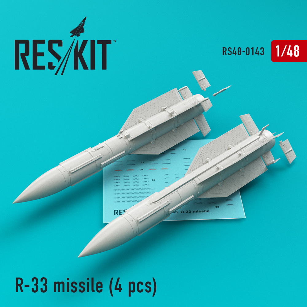 Res/Kit R-33 missile (4 pcs) (MiG-31)