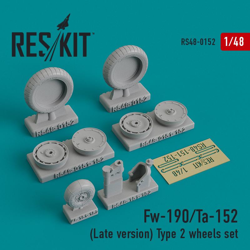 Res/Kit Fw-190/Ta-152 (Late version) Type 2 wheels set