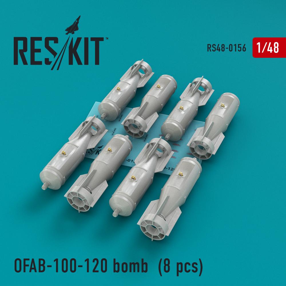 Res/Kit OFAB-100-120 bomb (8 pcs) Su-7, Su-17, Su-24, Su-25, Su-27, Su-30, Su-34, MiG-21, MiG-27, Yak-38, Jak-130