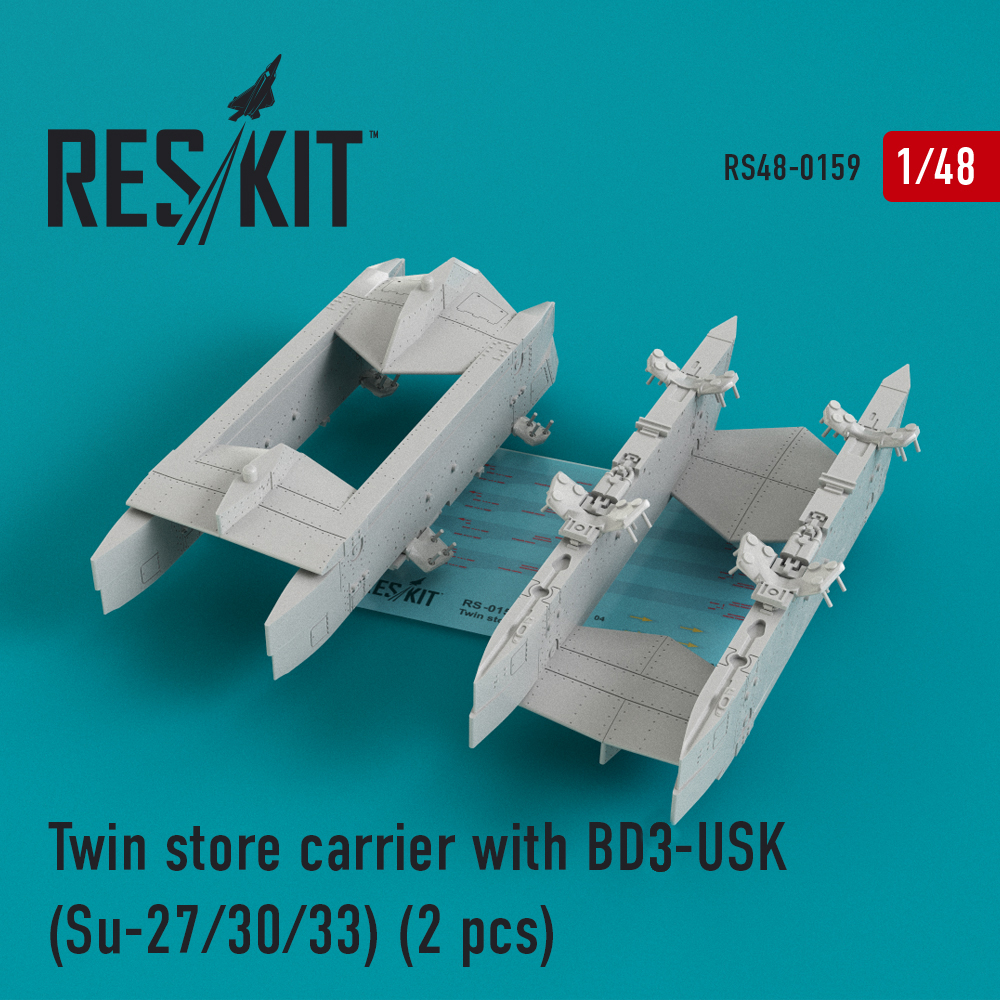 Res/Kit Twin store carrier with BD3-USK (Su-27/30/33) (2 pcs)