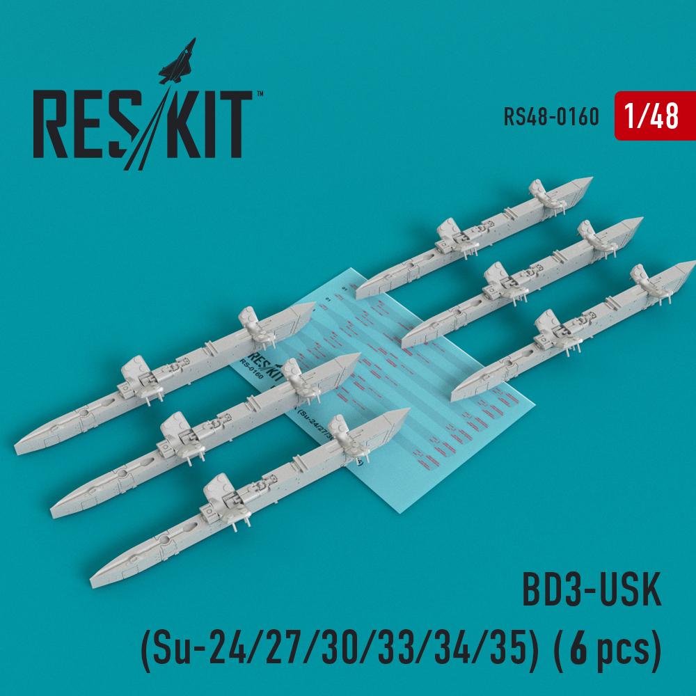 Res/Kit BD3-USK Racks (Su-24/27/30/33/34/35) (6 pcs)