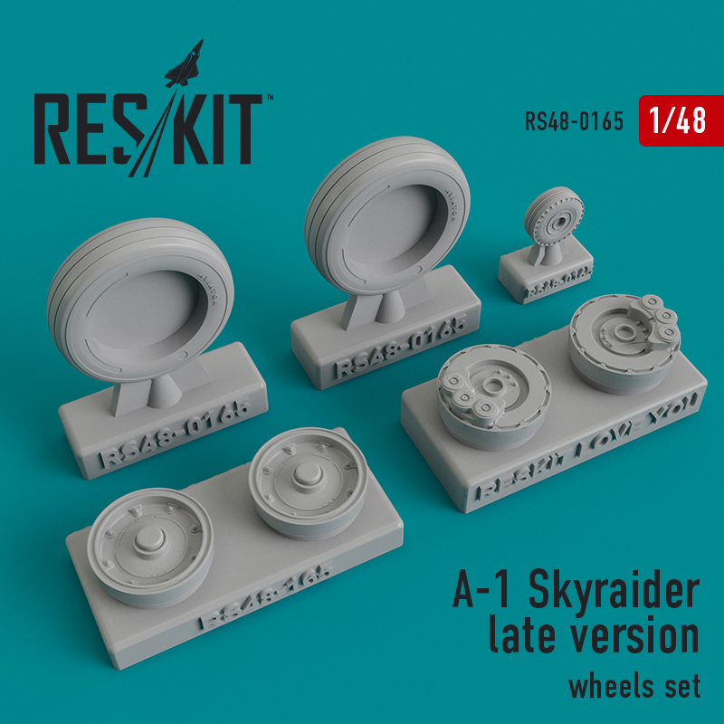 Res/Kit A-1 Skyraider late version wheels set