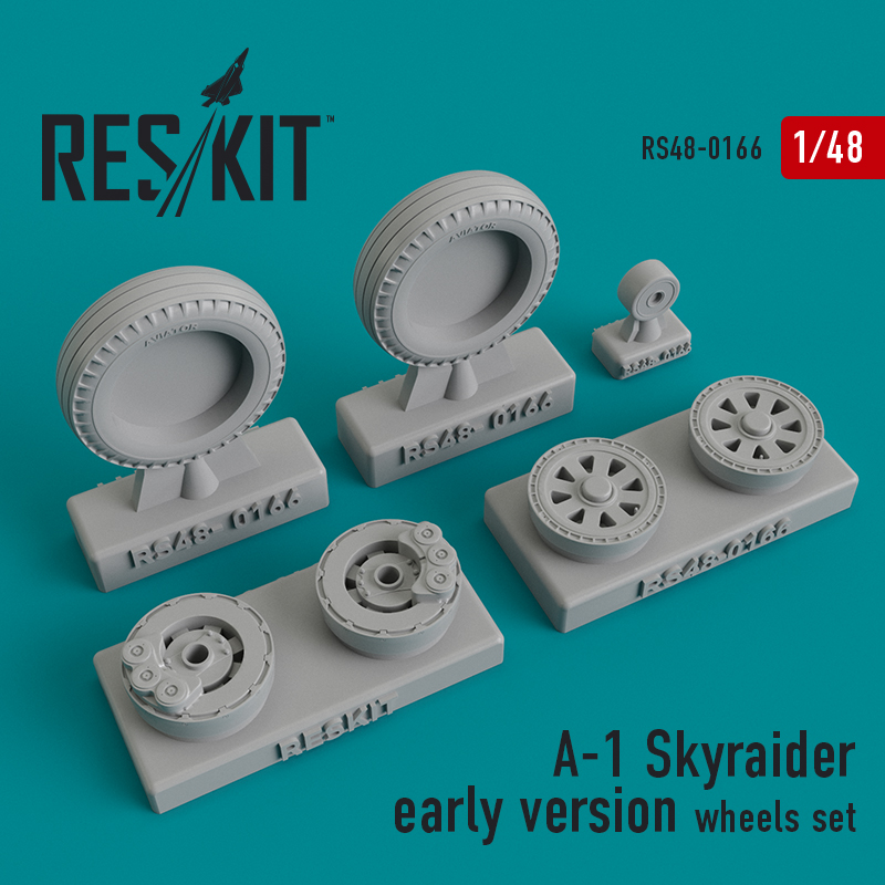 Res/Kit A-1 Skyraider early version wheels set