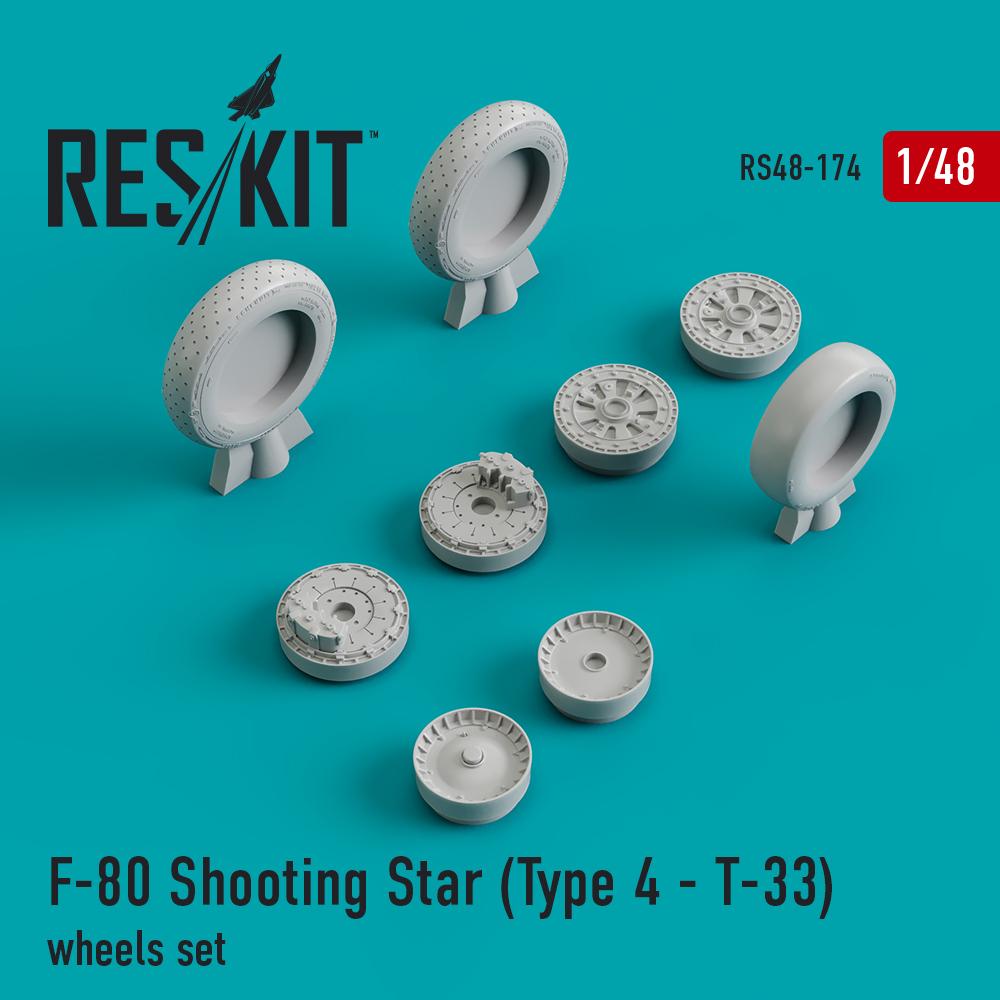 Res/Kit F-80 Shooting Star (Type 4 - _-33) wheels set