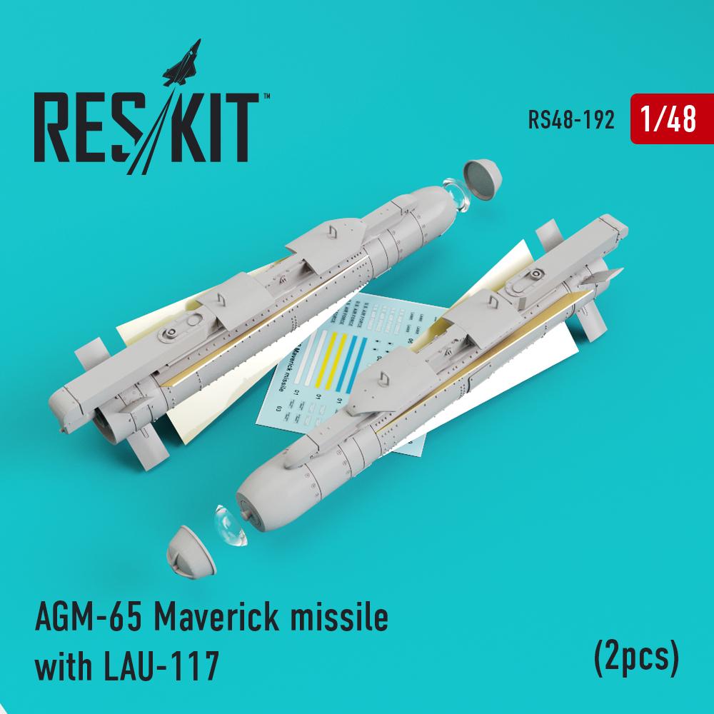 Res/Kit AGM-65 Maverick missile with LAU-117 (2pcs)AV-8b, A-10, F-16, F-18)