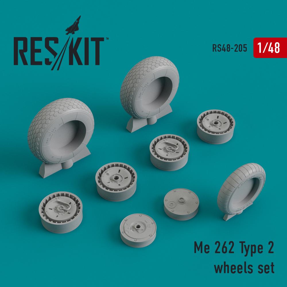 Res/Kit Me.262 Type 2 wheels set