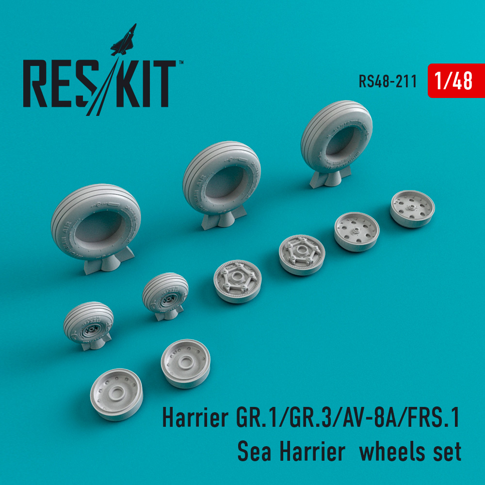 Res/Kit Harrier GR.1/GR.3/AV-8A/FRS.1/Sea Harrier wheels set