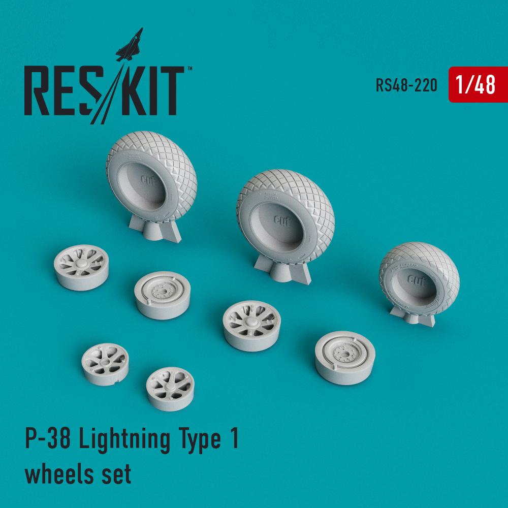 Res/Kit P-38 Lightning Type 1 wheels set