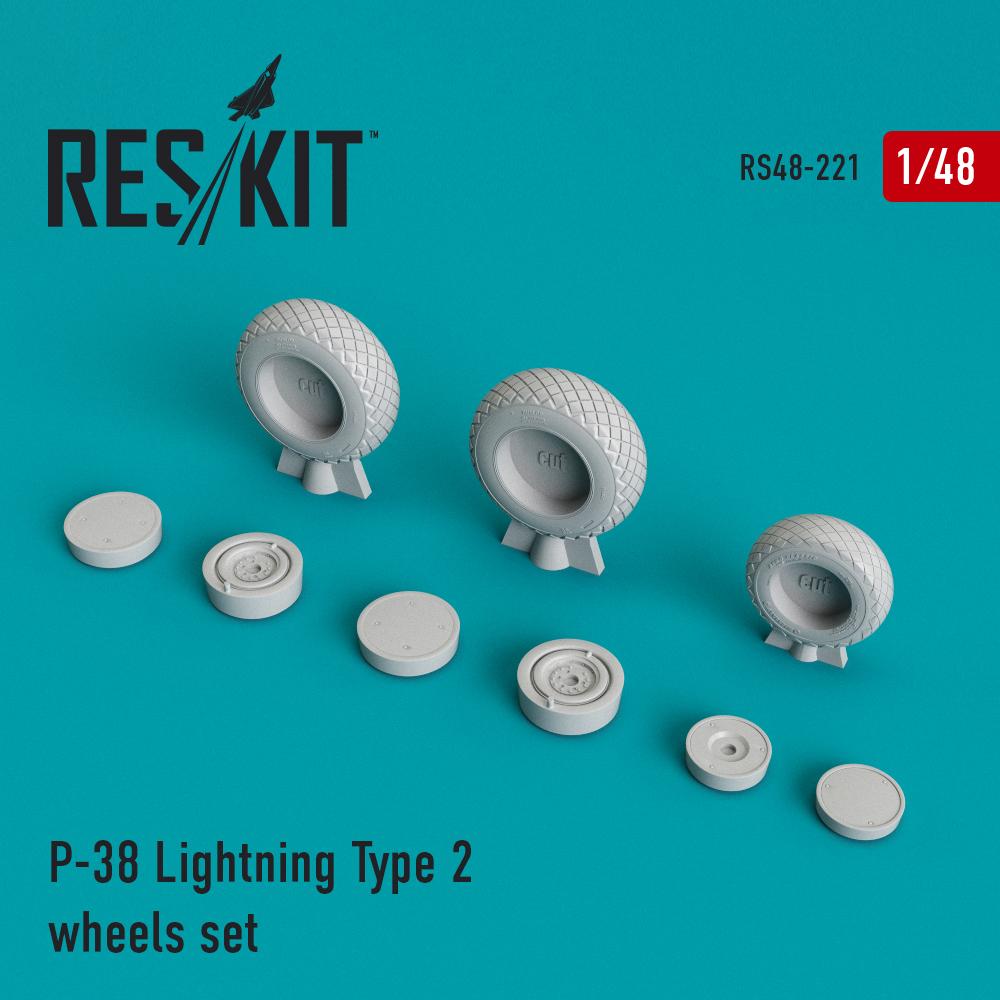 Res/Kit P-38 Lightning Type 2 wheels set