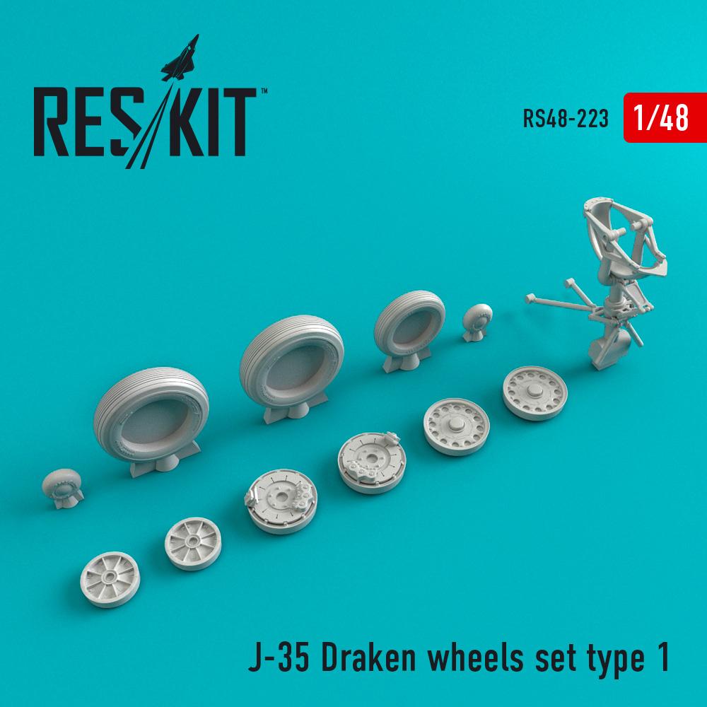 Res/Kit J-35 Draken wheels set type 1